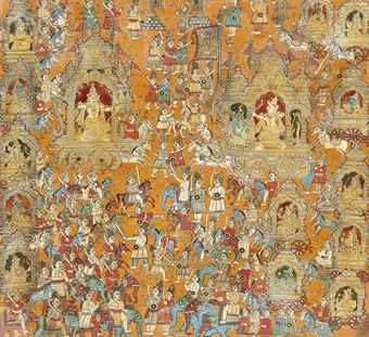 a_large_painting_of_the_great_mahabharata_war_mysore_south_india_19th_d5881087h